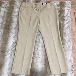 Worthington Petite Beige Modern Fit Trousers